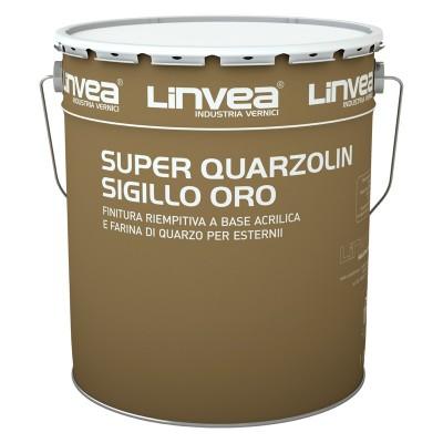 Super Quarzolin Sigillo Oro Bianco 4 Lt, Linvea