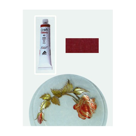 Craft 3d Colori A Rilievo Matt 007 Rosso D'oriente