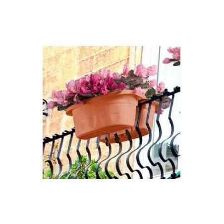 Fioriera Doppia Da Balcone Klunia D. 40x19,8x18,5h