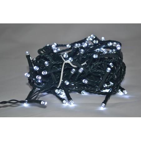 100 LED LUCE BIANCO FREDDO CON CONTROLLER 7MT