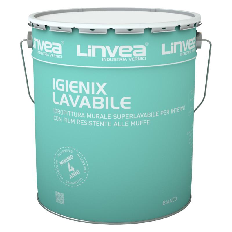 igienix lavabile bianco 15l linvea pittura antimuffa