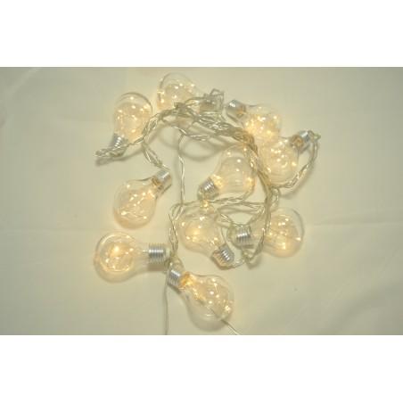 10 LAMPADE CON GOCCIA 60 MICROLED BIANCO CALDO 9MT