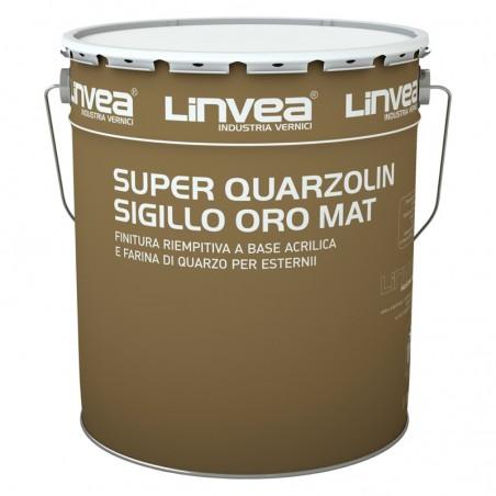 Super Quarzolin Sigillo Oro Mat Bianco Lt 15 - Lin