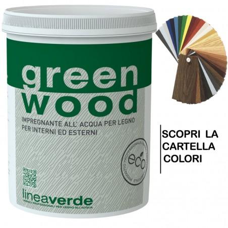 Green Wood Impregnante Finitura All'acqua 0,750 Ml - Linvea