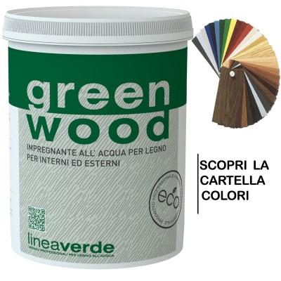 Green Wood Impregnante Finitura All'acqua 2,500 L - Linvea